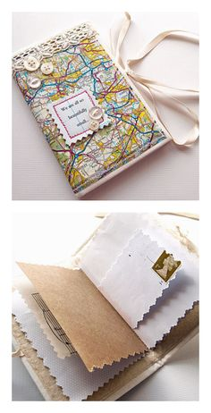 Personalized map journal by Nellie Elsie.Great for kids.