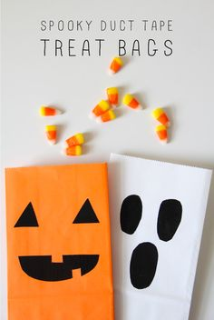 DIY: Spooky Duct Tape Treat Bags for Halloween