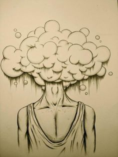 head in the clouds drawing - Google Search