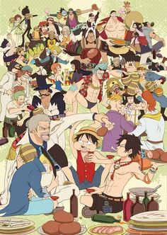 ONE PIECE, Pirates Party, Mugiwara/Strawhat, Whitebeard, Heart, Sabo, Rob Lucci, Silver Reighley, Eustass Captain Kid, Paulie