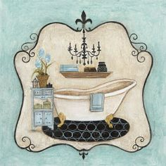 Decoupage Images for Bathrooms Bathroom Artwork, Bathroom Prints, Framed Artwork, Bathroom Colors, Vintage Diy, Vintage Paper, Decoupage Printables, Foto Transfer, Decoupage Paper