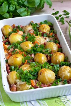 Polish Recipes, Polish Food, Mozzarella, Sprouts, Potato Salad, Potatoes, Lunch, Vegetables, Ethnic Recipes
