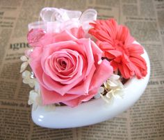 preserved flower Happiness pink