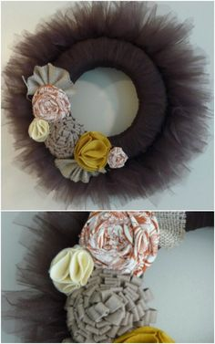 DIY Frilly Tulle Fall Wreath