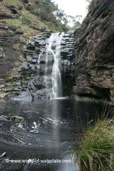 Looking across the calm plunge pool for Sheoak Falls  Angahook-Lorne State Park, Victoria, Australia