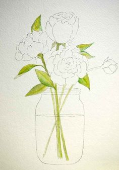 Peony Patterns for painting, crafting, embroidery, appliques or even coloring pages. Free download.