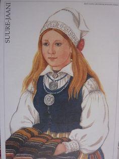 Estonian costume   Suure-Jaani Maksimumkaart Nr. 35  Eesti post