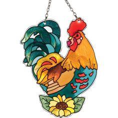 Suncatcher-SSB1016-Rooster - Rooster