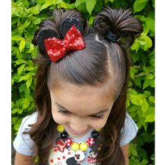 Itty-bitty Minnie Ears Clip by PixieDustPrettiess on Etsy