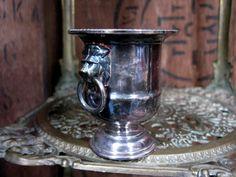 Silver Vase, Small Vase, Stem Vase, Silver Bud Vase, Made In England, Viners Vase, Silver Posy Vase, Vintage Vase, Lion Head Handles by MissieMooVintageRoom on Etsy