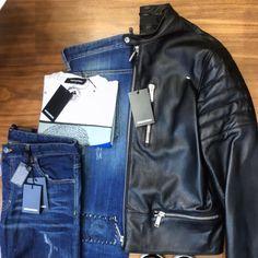 Men's Collection, Dsquared2, Leather Jacket, Athletic, Jackets, Shopping, Design, Fashion, Studded Leather Jacket