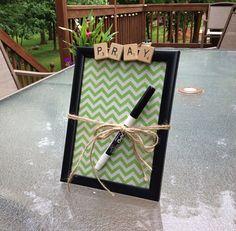 PRAY Dry Erase Board Message Board prayer requests Prayer