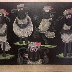 Arte em lousa por @clebcoli @clebcoliprojetos   Chá de bebê tema: Ovelhinha  Com um toque feminino.  #arteemlousaporclebcoli #arteemlousa #emminhafesta #festaovelhinha #ovelhinha #lettering #chawkboard