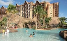 #Disney's Aulani resort is just an hour from Waikiki. Their pool is part of the 7-acre water park at the resort. (Photo: Courtesy Aulani Resort) #Hawaii #travel
