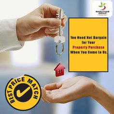 You Need Not Bargain for Your Property Purchase When You Come to Us.  Maruthamgroup delivers the best price match for your home purchase.