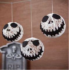 Halloween versiering: Feestelijke Jack Skellington hoofdjes - Instructies - Weethetsnel.nl