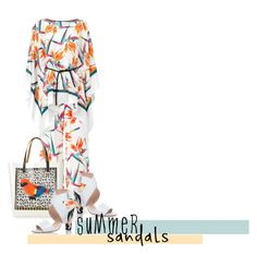 """""""Fendi Bird of Paradise Summer Sandals"""" by captainsilly ❤ liked on Polyvore featuring Fendi and Marni"""