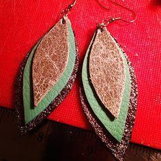triple action leather earrings