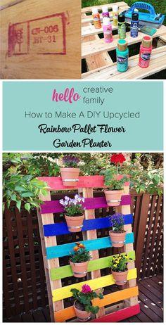 Jardín vertical con un palé - hellocreativefamily.com - DIY Pallet Garden