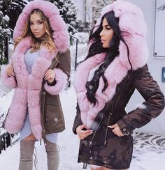 Lux Fashion, Womens Fashion, Girl Fashion, Stylish Outfits, Winter Outfits, Coats For Women, Clothes For Women, Trendy Hoodies, Fur Clothing