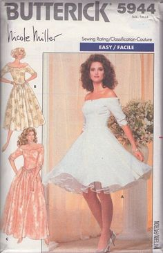 Designer Dress Patterns For Sewing Dresses Patterns Off Shoulder