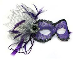 Vintage Purple Lace Masquerade Mask for Women, $32.99