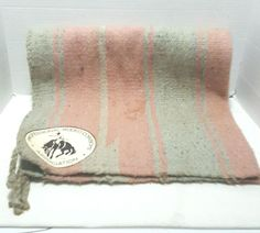 """Professional Rodeo Cowboys Association Saddle Blanket Pink and Blue 30""""x32"""" PRCA #Morgans"""