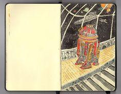 Todd's DrawingDen: R2-D7. Moleskin Sketch