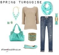 Totally Turquoise Spring Fashion - love this color for spring