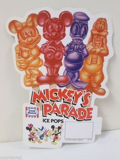 mickey's parade ice cream | ... GOOD HUMOR ICE CREAM TRUCK STORE LABEL MICKEY'S PARADE ICE POPS DONALD