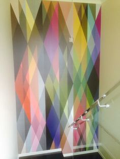 Colourful accent wall wallpaper Wall Wallpaper, Accent Colors, Wallpaper, Colour Shades