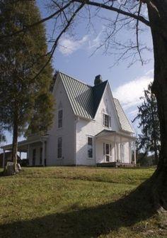 White Old Farm House