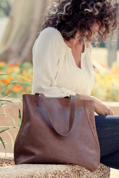 Womens Leather Tote Bag  Brown leather bag  Miri bag by maykobags, $188.00