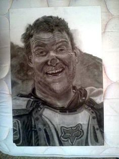 School Project done in charcoal of my dad