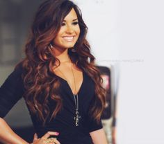 Long and flowy ombre hairstyle from Demi.. Love her hair