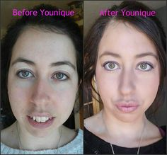 Check out my before and after picture using all Younique Products so easy and such a great way to strap on some confidence!!  youniquebysheena.com