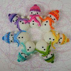 Teeny Tiny Snowmen by Moji-Moji Design