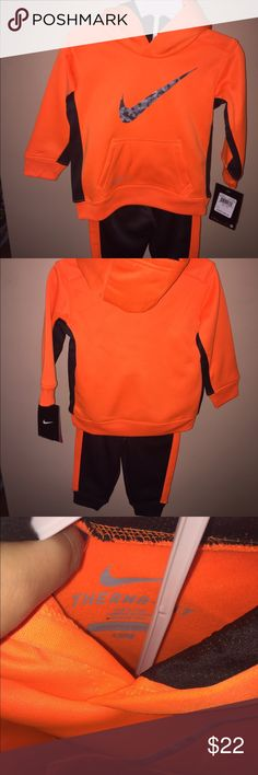 Nike Two Piece 12 Month Set New with tags orange Nike hoodie and pants for boys Nike Matching Sets