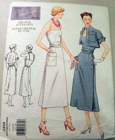 Vogue 2414  Reproduction of 1950s Dress by retroactivefuture, $18.00