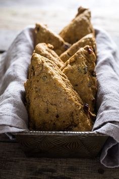 Bobby Flay's Pumpkin Cranberry Scones   Such a great fall brunch recipe! These scones are really soft and full of ginger flavor. Click through for the recipe!
