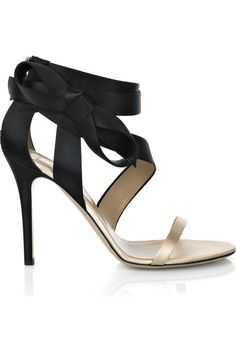 Valentino | I love two tone shoes, especially when the tones are black and nude. You can wear these neutral shoes w/any dress and look stunning.