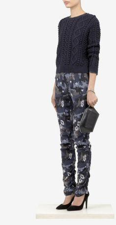 Phillip Lim's designs utilitze modern detailing to create chic and fresh silhouette for the city girl and these drawstring pants are sur Black Camo Pants, Drawstring Pants, 3.1 Phillip Lim, Camouflage, Parachute Pants, Branding Design, Harem Pants, Capri Pants, Track