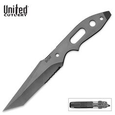 Slim Profile Covert Ops Survival Knife with Sheath