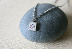 Rectangle Lotus necklace // by kisii on Etsy