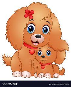 Happy Cartoon, Cartoon Dog, Cartoon Pics, Cute Cartoon, Cute Little Dogs, Cute Cats And Dogs, Animal Cutouts, Cute Dog Pictures, Cat Character