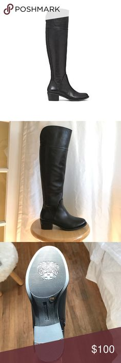 Vince Camuto OTK Brenda Boots NWT over the knee Brenda boots in original packaging. Currently sold at stores. Bought wrong size. Cheaper on merci Vince Camuto Shoes Over the Knee Boots