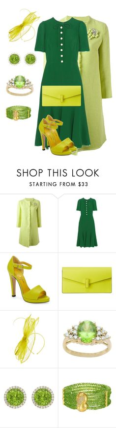 """""""Peridot"""" by chauert ❤ liked on Polyvore featuring Ermanno Scervino, Dolce&Gabbana, Charlotte Olympia, Valextra, Kiki mcdonough and peridot"""