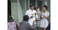 Barack and Malia enjoyed some shaved ice at Island Snow in Kailua, HI, in January 2015.