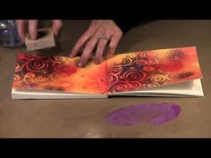 Strathmore Art Journal Page Spreads - part 2 - YouTube I really like the ideas in this video..I never thought to use my sprays or my Inka Gold as ink for stamps. Very cool.