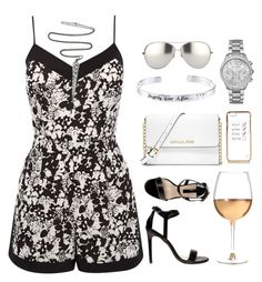 """Going out with friends"" by mycherryblossom ❤ liked on Polyvore featuring Oasis, Linda Farrow, Michael Kors, Disney, River Island, MICHAEL Michael Kors, Dorothy Perkins, Marc Blackwell, Silver and polyvorestyle"